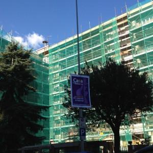 Ponteggio – via delle Porte Nuove