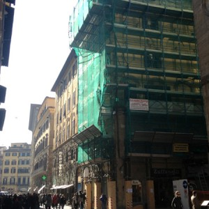 Ponteggio – centro storico Firenze
